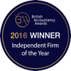 British Accountancy Awards 2016 winner